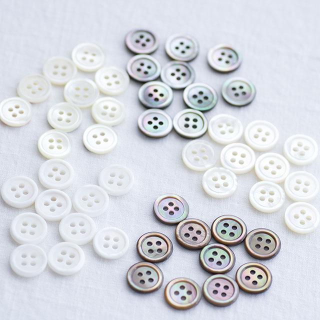 【貝ボタン定番セット】#00017 13mm 各10個 *初めての方にもおすすめセット