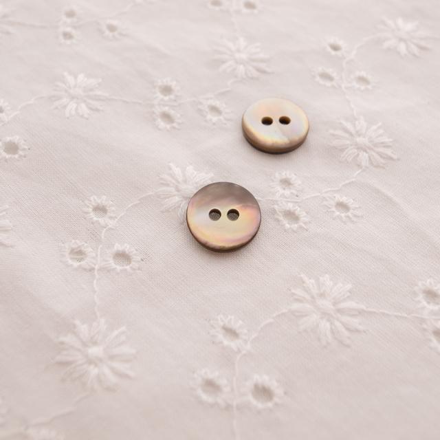 【丸型(定番)】茶蝶貝 貝ボタン#00150 2穴11.5mm