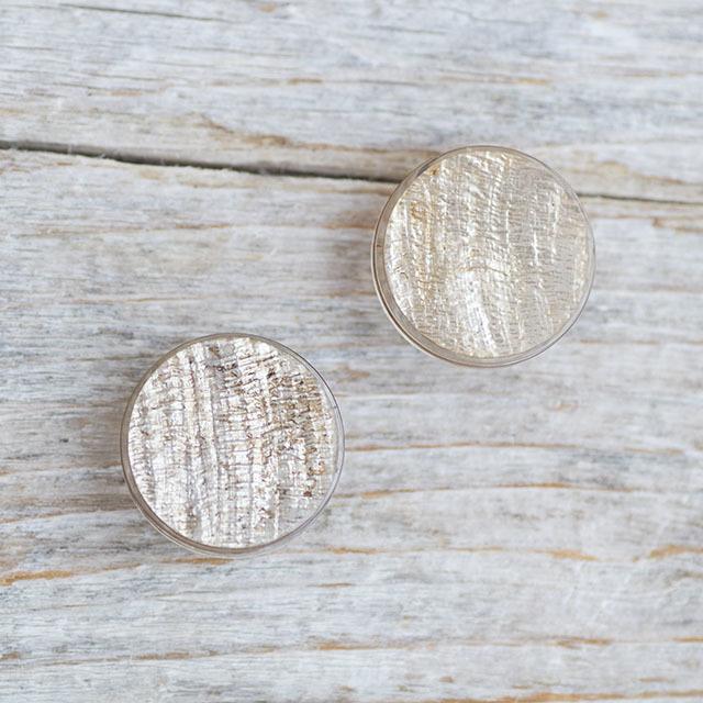 【シンプルデザイン貝ボタン SAND】カピスシェル #BT225  C/#47ゴールド 1穴15mm