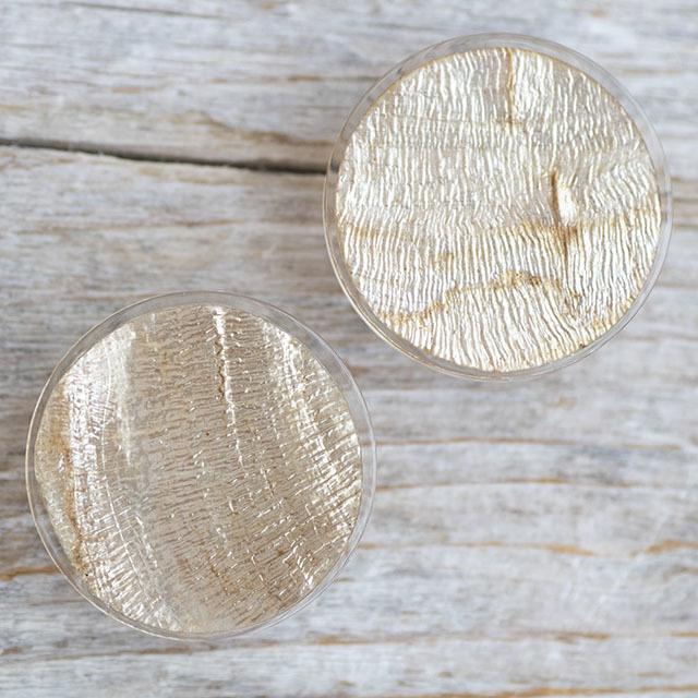 【シンプルデザイン貝ボタン SAND】カピスシェル #BT225  C/#47ゴールド 1穴23mm