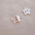 【星の形の 貝ボタン】アワビ貝 貝ボタン#bt133 2穴15mm