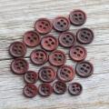 黒蝶貝ボタン 染色ボタン シャツ用ボタン