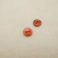 【丸型(染めボタン)】黒蝶貝 貝ボタン#00104 2穴10mm C/#RED