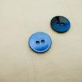 【丸型(染めボタン)】黒蝶貝 貝ボタン#00104 2穴15mm C/#BLUE