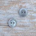 【丸型(定番 縄目)】黒蝶貝ボタン#00220 2穴11.5mm