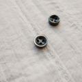 【厚みのあるボタン(4mm厚)】黒蝶貝貝ボタン#bt131 4穴10mm