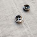 【厚みのあるボタン(4mm厚)】黒蝶貝貝ボタン#bt131 4穴11.5mm