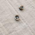 【厚みのあるボタン(4mm厚)】黒蝶貝貝ボタン#bt131 4穴9mm