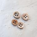 【ボタンダウンシャツ用 貝ボタンセット (厚みのあるボタン 3mm厚)】茶蝶貝 貝ボタン#00017 4穴11.5mm15個&9mm5個【10%OFF】