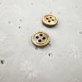 【厚みのあるボタン(3mm厚)】茶蝶貝 貝ボタン#00017 4穴 11.5mm
