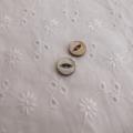 【丸型(デザイン キャッツアイ)】茶蝶貝ボタン#bt037 2穴10mm