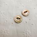 【丸型(デザイン キャッツアイ)】茶蝶貝ボタン#bt038 2穴11.5mm