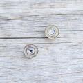 【ビジューボタン(ラメミックス)】メタル×クリスタルビジューボタン #BT219  10mm C/#GRS ゴールド×クリスタル