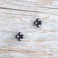 【花の形のボタン】スモールメタルボタン #BT250 1穴 8mm C/#BN ブラック