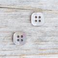 【四角いボタン】茶蝶貝ボタン#bt039 4穴11.5mm
