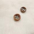 【厚みのあるボタン(3mm厚)】淡水真珠貝 貝ボタン#bt097 4穴10mm C/#BRW