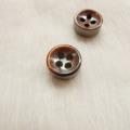 【厚みのあるボタン(4mm厚)】淡水真珠貝 貝ボタン#bt097 4穴10mm C/#BRW