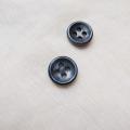 【厚みのあるボタン(3mm厚)】淡水真珠貝 貝ボタン#bt097 4穴11.5mm C/#SMK