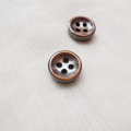 【厚みのあるボタン(4mm厚)】淡水真珠貝 貝ボタン#bt097 4穴11.5mm C/#BRW