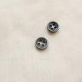 【厚みのあるボタン(3mm厚)】淡水真珠貝 貝ボタン#bt097 4穴9mm C/#SMK
