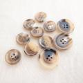 【厚みのある形(CORO)】本水牛ボタン#COROHORN 4穴14mm&19mmセット C/#MB【モカベージュ】***10%OFF***