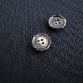 【厚みのある形(CORO)】本水牛ボタン#COROHORN 4穴14mm C/#DB【ブラウン】