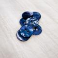 【丸型(染めボタン 皿型)】アコヤパールシェル 貝ボタン#00104 2穴15mm C/#navy berry