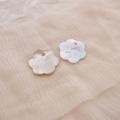 【花の形のシェルパーツ(トップホール)】アコヤパール貝アクセサリーシェルパーツ#pt041 1穴20mm