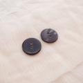 【丸型(シンプルデザイン)】ペン貝ボタン#bt040 2穴15mm