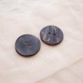 【丸型(シンプルデザイン)】ペン貝ボタン#bt040 2穴25mm