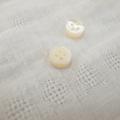 【厚みのあるボタン(4mm厚)】高瀬貝貝ボタン#00017 4穴9mm
