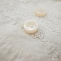【厚みのあるボタン(4mm厚)】白蝶貝 貝ボタン#00017 4穴 11.5mm