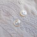 【丸型(定番 縄目)】白蝶貝ボタン#00220 2穴13mm