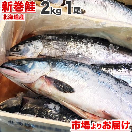 北海道産 新巻鮭 一本まんま姿 2kg前後サイズ