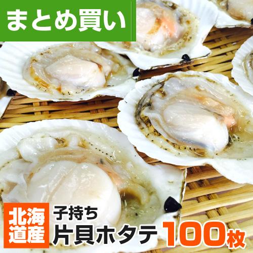 【まとめ買い】北海道産 片貝ホタテ 100枚