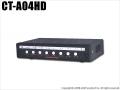 【CT-A04HD】4CH 画面分割器(AHD/HD-TVI/HD-CVI/CVBS対応)HDMI出力