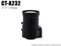 【CT-A232】防犯カメラ・監視カメラ用バリフォーカルレンズ(f=5.0〜50mm)