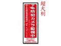 【CT-A239】超大判多言語対応・防犯ステッカー(防犯カメラ監視中[縦型:赤])