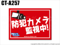 【CT-A257】コンパクト防犯ステッカー(防犯カメラ監視中[四角形・赤])