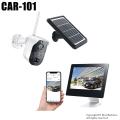 【CAR-101】キャロットシステムズ製 ソーラーバッテリー無線カメラ &モニターセット [返品不可]