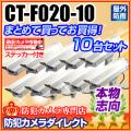 【CT-F020-10】LEDダミーカメラ内蔵ハウジング10台セット(屋外防雨・本格志向/アイボリー・ロング)