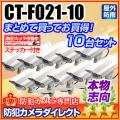 【CT-F021-10】LEDダミーカメラ内蔵ハウジング10台セット(屋外防雨・本格志向/アイボリー・ショート)