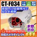 【CT-F034】屋内外OK 電源不要 ソーラー発電 充電池付きダミーカメラ(夜間自動発光タイプ)