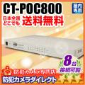 【CT-POC800】CoC対応 電源重畳ワンケーブル AHD8台用 電源ユニット
