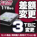 【セットオプション品】 内蔵ハードディスク 1TBから3TBへ変更 [単品購入不可]