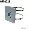 【ORT-122B】防犯カメラ・監視カメラ屋外ポール取付用金具(ステンバンドセット)