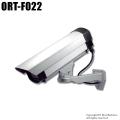 【ORT-F022】LEDダミーカメラ内蔵ハウジングセット(屋外防雨・本格志向/シルバー)