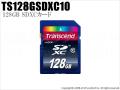 【TS128GSDXC10】Transcend(トランセンド)128GB SDXCカード Class10