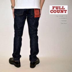 """FULL COUNT フルカウント、""""1110"""" TAPERED、テーパードモデル [タイトストレート] [ライトオンス] [ヴィンテージ系色落ち]"""