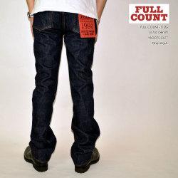 """FULL COUNT フルカウント、""""1120""""、BOOTS CUT ブーツカット [ブーツカット] [ライトオンス] [ヴィンテージ系色落ち]"""